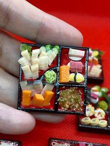Handmade-Miniature-Japanese-Sushi-Sashimi-Bento-Set-Miniature-Japanese-food