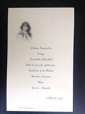 Ancien menu 1904