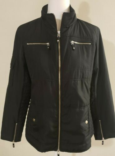 Spanner Sport Black Edgy Bomber Jacket