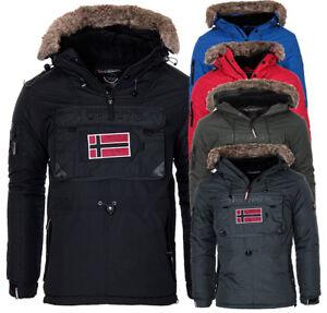 Geographical-Norway-Herren-Warme-Winter-Jacke-SchlupfJacke-Parka-windbreaker-NEU