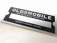 Oldsmobile Motor Car Division Co Body Vin Model Trim Number Plate Tag Paint Code