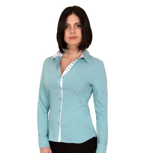 Damen Bluse Damen Business Hemd Damen Popeline Bluse Damen Langarm Bluse B304