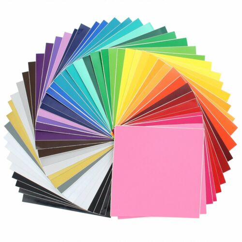 Oracal 631/651 Vinyl - 12 x 12 for silhouette, cricut. 48 Pack of Top Colors