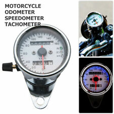 Color : Black VGEBY Motorcycle Dual Odometer Speedometer Gauge LED Backlight Signal Light