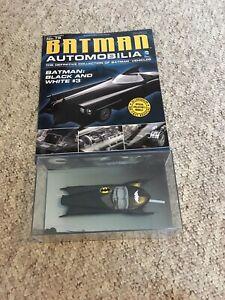 Batman-Automobilia-EAGLEMOSS-DIECAST-1-43-No-76-blanco-y-negro-de-3-Comic-Batman
