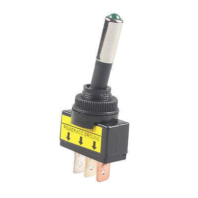 4Pcs 12V 20A Car Auto Green LED Light Toggle Rocker Switch 3P SPST ON//OFF Sales