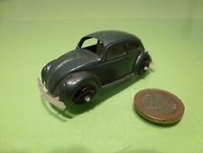VINTAGE PLASTIC 1960s HONGKONG VW VOLKSWAGEN BEETLE BUG - BLUE/GREY - VERY GOOD