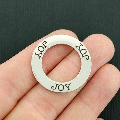 BFS1012 Quantity Options Joy Stainless Steel Charms Ring Affirmation Circle