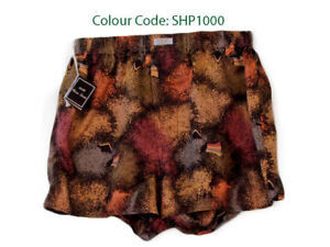 Silk-Boxer-Short-Men-Underwear-Underpants-Soft-Briefs-Trunk-Brown-Black-S-M-L-XL