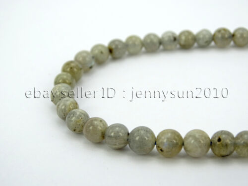 Natural Labradorite Gemstone Round Beads 15.5/'/' 2mm 3mm 4mm 6mm 8mm 10mm 12mm
