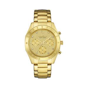 Caravelle-New-York-Womens-44L213-Quartz-Crystal-Chronograph-Gold-Tone-36mm-Watch