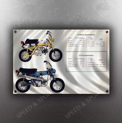 VINTAGE HONDA MINI TRAILS MOTORCYCLE BANNER