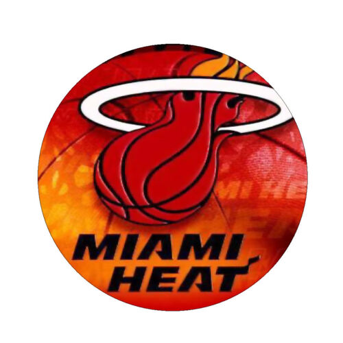 NOVELTY COLLECTIBLE MIAMI HEAT MAGNET MIRROR OR PIN BACK BUTTON YOU CHOOSE