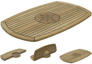"""Bateau Teck Table /""""Cercle/"""" Trois Tailles Disponibles Motorhome//Caravane//Marine"""