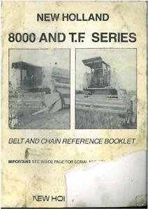 new holland combine 8030 8040 8050 8060 8070 8080 belt chain rh ebay co uk New Holland Mower Manual new holland 8060 operator's manual