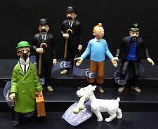 6pc The adventures of Tintin Snow Dupond Milou Captain Haddock PVC statue figure