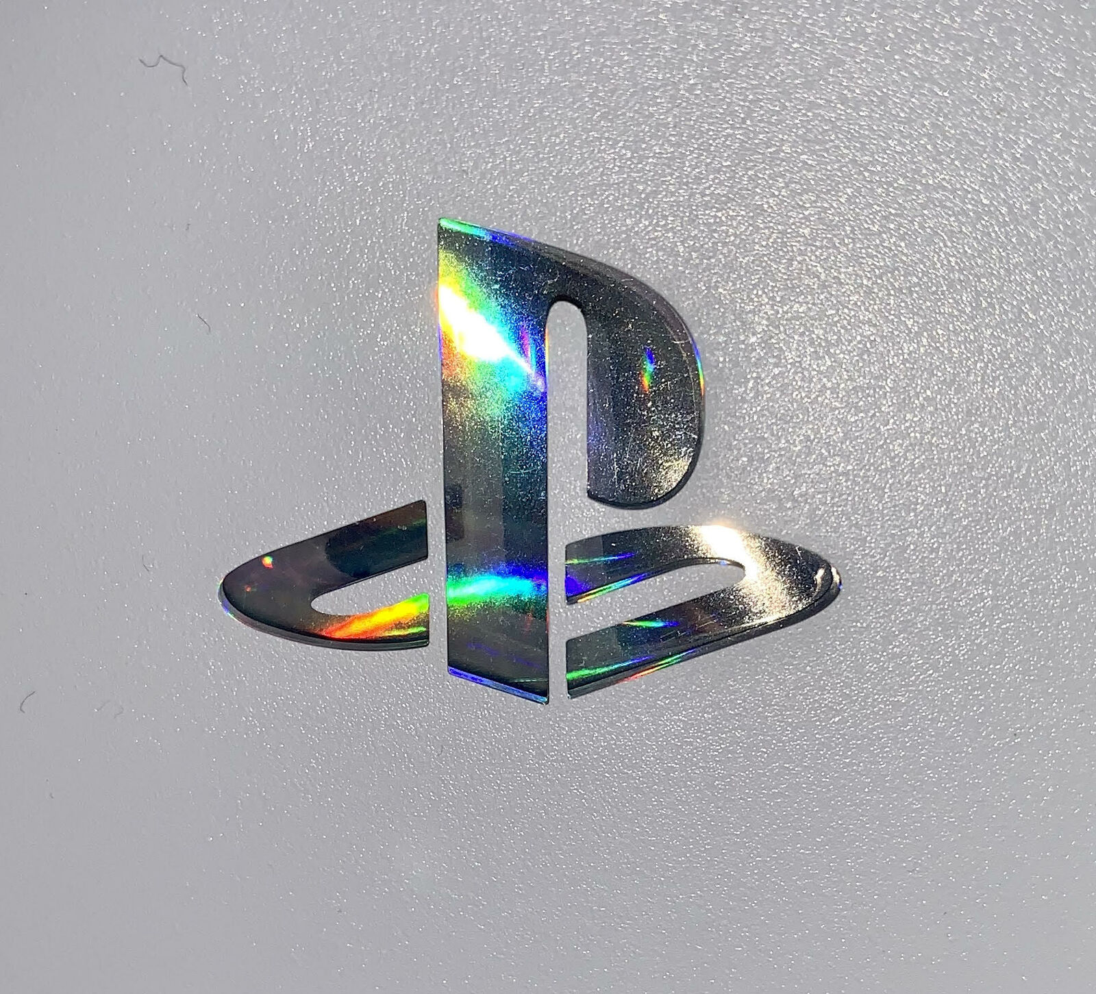 PS5 Faceplate Decal for Aftermarket Faceplates - Holographic Silver