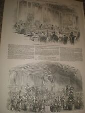 Duke of Norfolk hosts Queen Victoria and Prince Albert 1849 print ref AZ