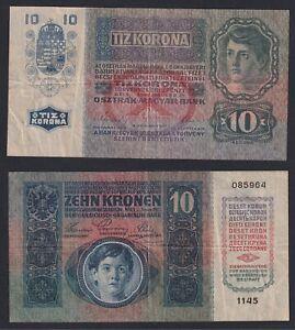 Austria-Hungary-10-Kronen-1915-BB-VF-A-10