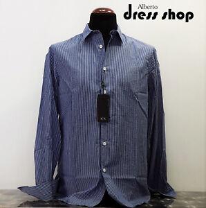 Shirt-Striped-Regular-Fit-Armani-Exchange-Man-6ZZC09-Znrgz-Blue-Light-4565