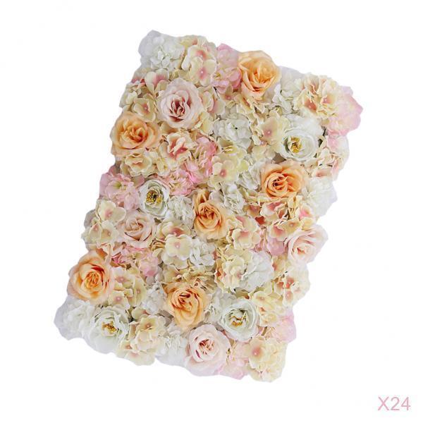 24x roses bleumenwand fleurs fond Pilier fleurs RUE pour MARIAGE