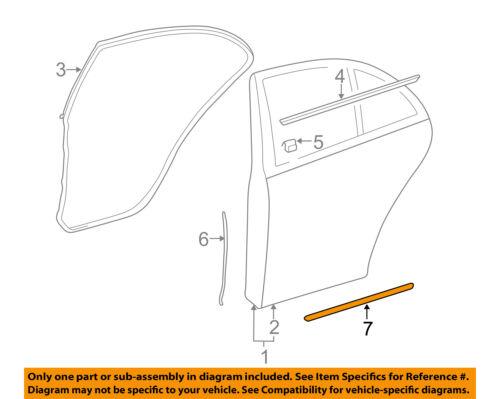 MERCEDES OEM 03-09 E320 Rear Door-Lower Weatherstrip Seal 2117301178