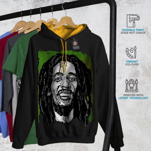 Face New Black Bob con Celebrity Felpa oro Marley uomo cappuccio da cappuccio Xnx4p