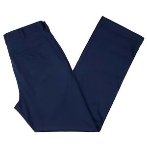 Nike-Blue-Golf-Pants-32x32-Flat-Front-Navy-Golfing-Trouser-Mens-Dri-Fit-Trousers