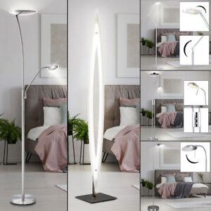 LED-Decken-Fluter-Steh-Stand-Lampe-dimmbar-Lese-Spot-Leuchte-beweglich-Buero-Flur