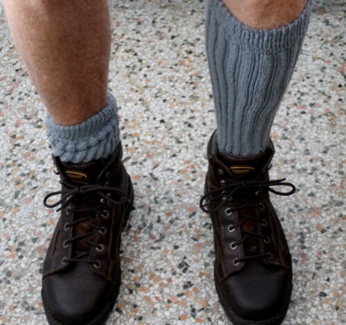 Slate Gray Slouch Knee Socks Scrunchie Flawed Thick Hooters Uniform Long xo