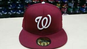 ffdcd740e07 Image is loading New-Era-MLB-Washington-Nationals-Custom-Burgundy-59FIFTY-