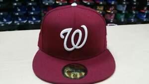 ffdcd740e07 Image is loading New-Era-MLB-Washington-Nationals-Custom-Burgundy-59FIFTY-
