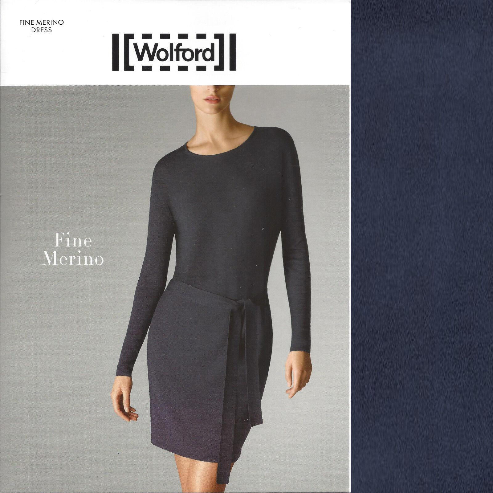 Wolford Fine Merino Dress - S - midnight - OP  ... aus leichter Merino-Wolle