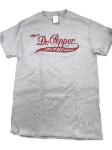 Dr Pepper Tee T-shirt Grey Large King of Beverages
