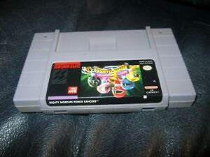 Mighty Morphin Power Rangers Super Nintendo SNES Game