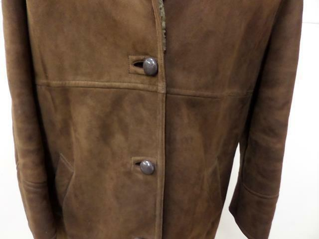 Womens Womens Womens RICHARD DRAPPER SHEEPSKIN COAT Size 40  BROWN GOOD VGC SKU No T522 7a6a67