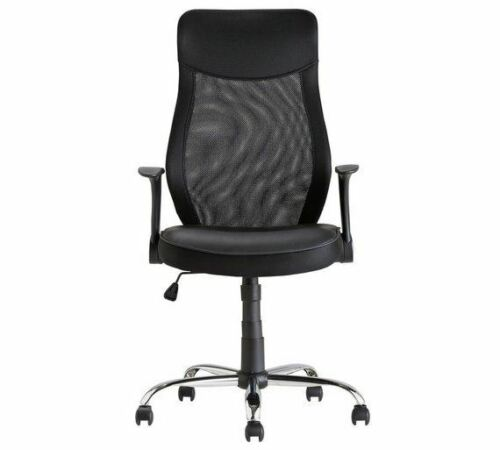 Black Deluxe Office Chair Height Adjustable Home or Office Swivel Manager