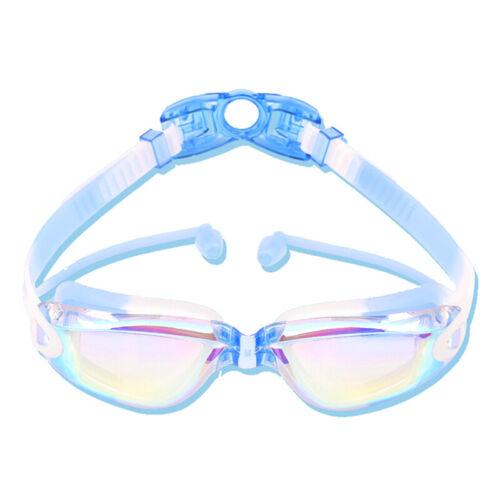 Silicone Transparent Swimming Goggles Anti-fog UV Kids Sports Eyewear Glasses ^S