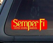 "Semper Fi USMC Marines Car Decal Sticker 4"" x 1.5"""