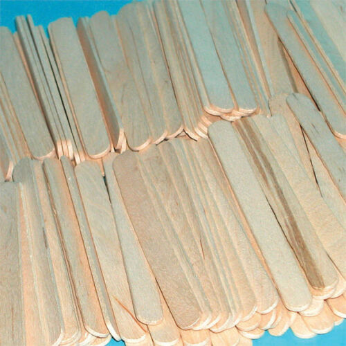 Wooden LOLLIPOP STICKS Kids Crafts Ice Lolly Cake Pops Making VARIOUS QUANTITIES