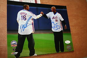 NY-METS-DWIGHT-GOODEN-amp-DARRYL-STRAWBERRY-SIGNED-8X10-PHOTO-1986-WS-CHAMPS-JSA