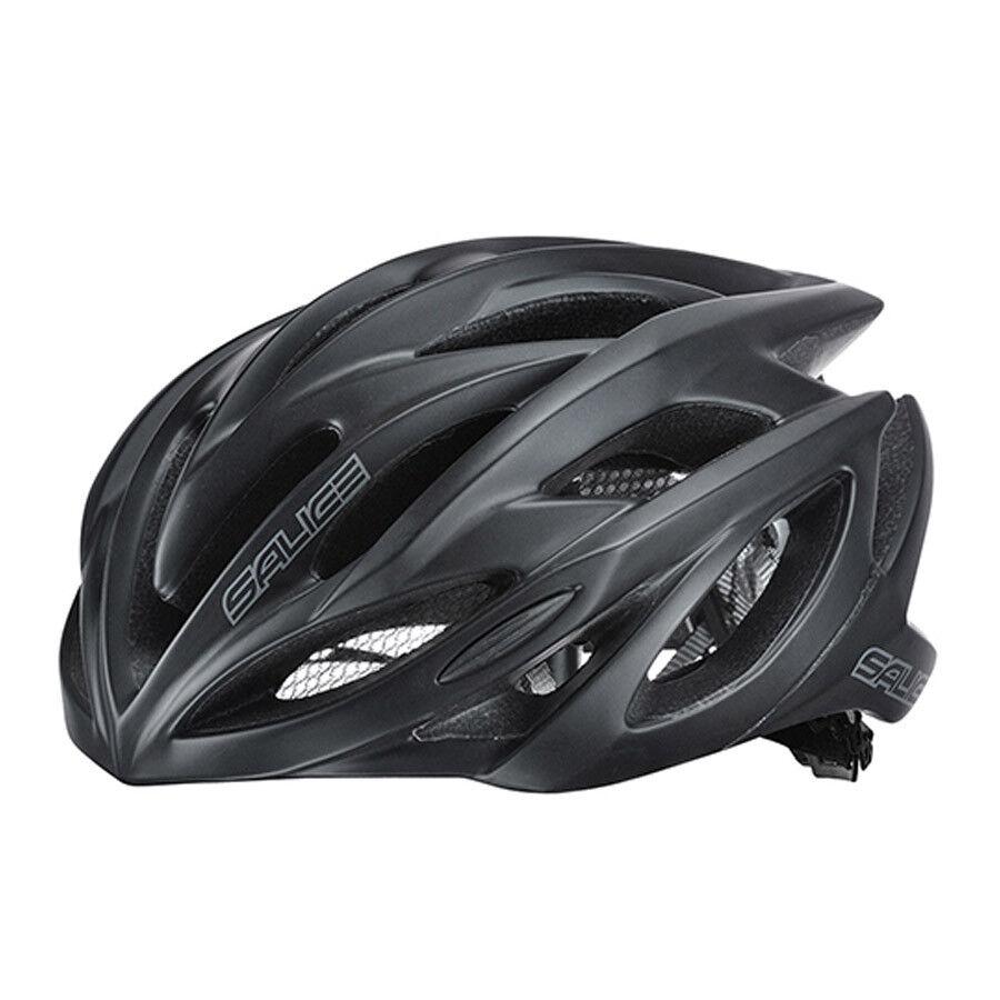 Casco bici ciclismo SALICE GHIBLI negro opaco negro matt 52-58 LED road mtb corsa