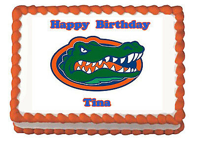 Cool Florida Gators Gainesville College Football Premium Edible Cake Funny Birthday Cards Online Elaedamsfinfo