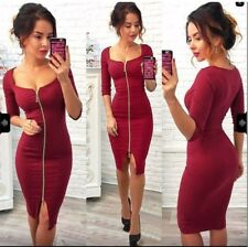 16aa98e26a item 6 UK 6-16 Womens Ladies Deep V Neck Plunge Zip-Up Bodycon Tunic Pencil  Dress Party -UK 6-16 Womens Ladies Deep V Neck Plunge Zip-Up Bodycon Tunic  ...
