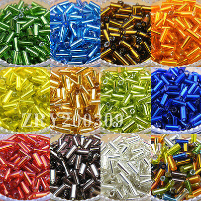 1200Pcs Tube Czech Glass Spacer Beads 2x4mm 11color-1 Or Mixed R0081