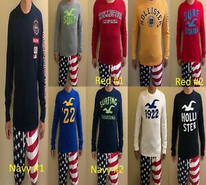 67c8e9a70 Image is loading NWT-Hollister-Abercrombie-Mens-Long-Sleeve-Crew-Varsity-