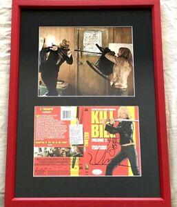 Daryl-Hannah-Uma-Thurman-autographed-signed-auto-Kill-Bill-movie-8x10-framed-JSA