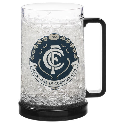 Carlton Blues AFL Gel Ezy Freeze Beer Stein Mug Cup Man Cave Bar Gift