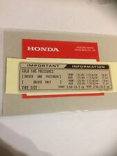 Genuine Honda Tyre Info Decal ST50 ST70 1982 Monkey Bike Dax Z50 Chaly