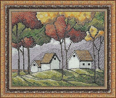 Puntada cruzada contada Kit neocraft-Colores de otoño